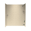Swanstone 60-in W x 30-in D x 72-in H Tahiti Desert Fiberglass Bathtub Wall Surround
