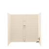 Swanstone 60-in W x 30-in D x 60-in H Tahiti Sand Fiberglass Bathtub Wall Surround