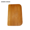 Swanstone 10-1/2-in L x 16-3/4-in W Wood Cutting Board