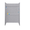 Swanstone 48-in W x 34-in L x 72-in H Gray Granite Shower Wall Surround Side and Back Panel