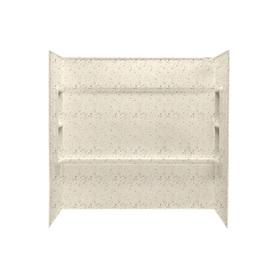 Swanstone Tahiti Desert Fiberglass and Plastic Composite Bathtub Wall Surround (Common: 30-in x 60-in; Actual: 59.5-in x 30-in x 60-in)