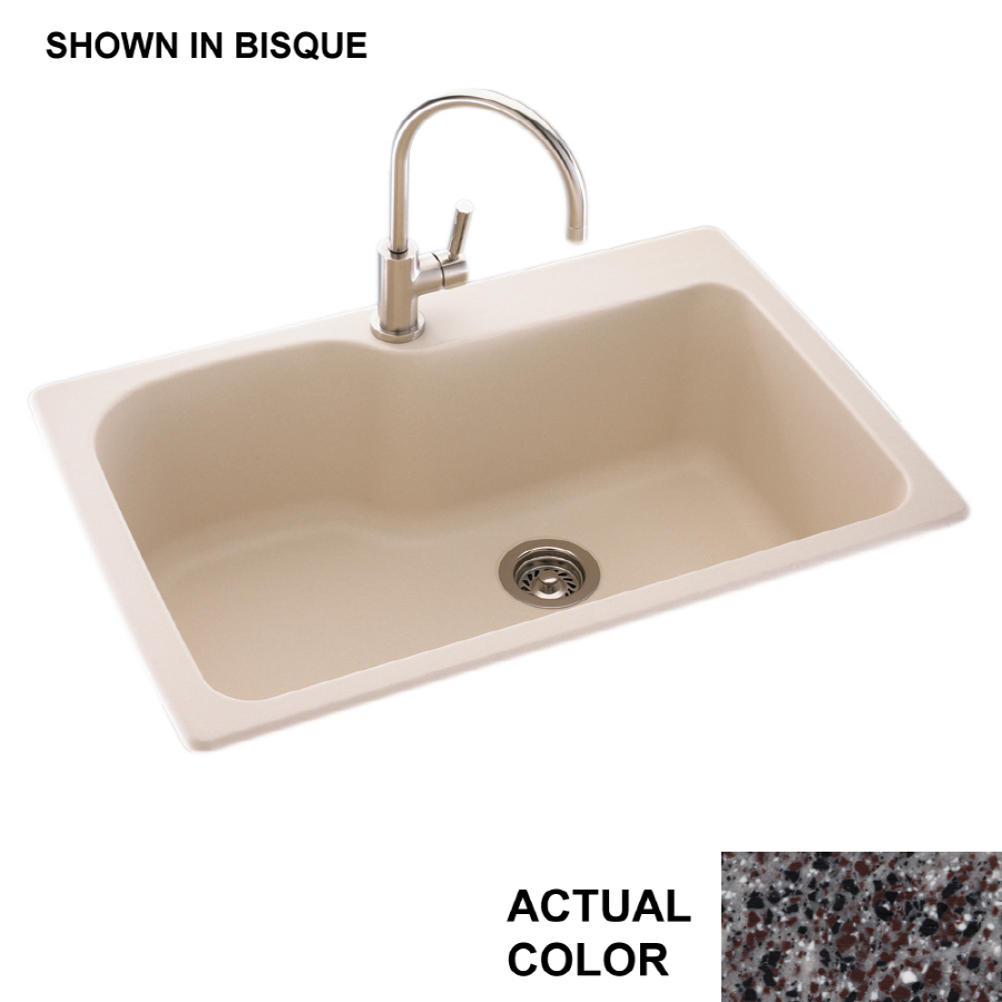 Shop Swanstone Single Basin Drop In Or Undermount Composite Kitchen Sink At