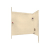 Swanstone 60-in W x 33-1/2-in D x 60-in H Cornflower Fiberglass Bathtub Wall Surround