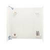 Swanstone Fiberglass and Plastic Composite Bathtub Wall Surround (Common: 30-in x 60-in; Actual: 57-in x 30-in x 60-in)