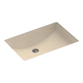 Swanstone cornflower composite undermount rectangular for Swanstone undermount sinks