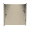 Swanstone 72-in W x 48-in D x 60-in H Winter Wheat Fiberglass Bathtub Wall Surround