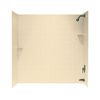 Swanstone 72-in W x 48-in D x 60-in H Cornflower Fiberglass Bathtub Wall Surround