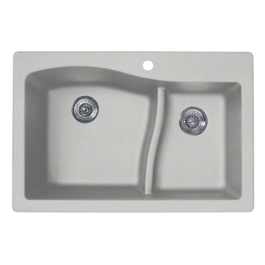 ... zoom in swan double basin drop in or undermount granite kitchen sink