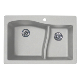 SWAN Double-Basin Drop-In or Undermount Granite Kitchen Sink