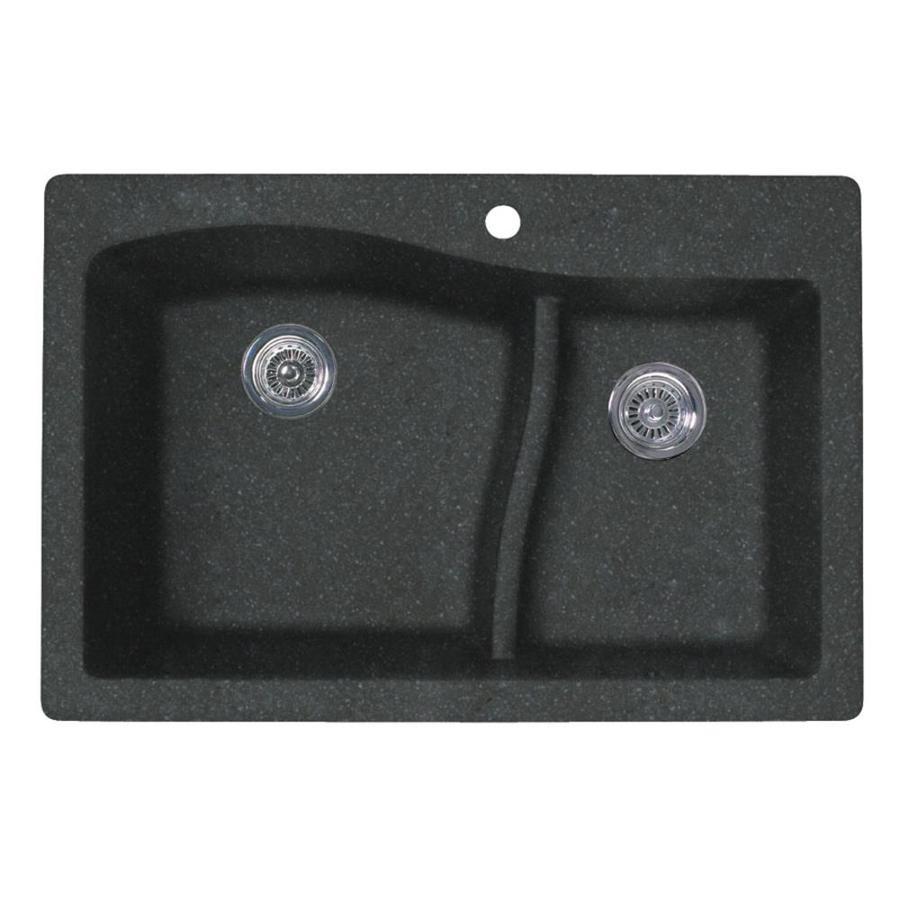 Shop swan double basin drop in or undermount granite - Undermount granite kitchen sinks ...