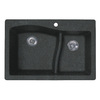 Swanstone Double-Basin Drop-in or Undermount Composite Kitchen Sink