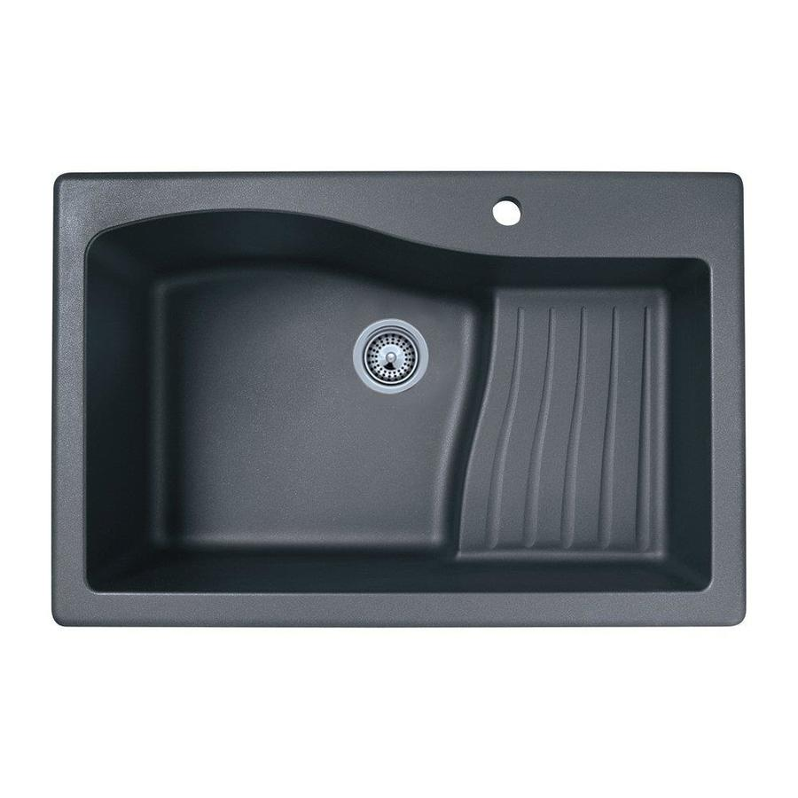... Single-Basin Drop-In or Undermount Granite Kitchen Sink at Lowes.com