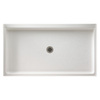 Swanstone 60-in L x 32-in W Swanstone White Fiberglass Shower Floor (Drain Included)