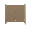 Swanstone 60-in W x 30-in D x 60-in H Barley Fiberglass Bathtub Wall Surround
