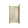 Swanstone 36-in W x 36-in L x 72-in H Cloud Bone Shower Wall Surround Side and Back Panel