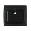 Swanstone 25-in x 22-in Midnight Sparkle Self-Rimming Composite Laundry Utility Sink (Drain Included)