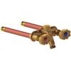 WCM Industries, Inc. 12-in L 1/2-in Dual Pattern Brass Frost Proof Sillcock Valve