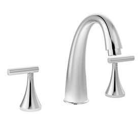 Symmons Lucetta Chrome 2-Handle Fixed Deck Mount Tub Faucet