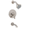 Symmons Callie Satin Nickel 1-Handle Tub and Shower Faucet with Multi-Function Showerhead