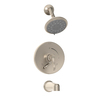 Symmons Sophia Satin Nickel 1-Handle Tub and Shower Tub/Shower Valve Included with Multi-Function Showerhead
