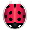 Toilet Tattoos Ladybug Round Toilet Lid Decal
