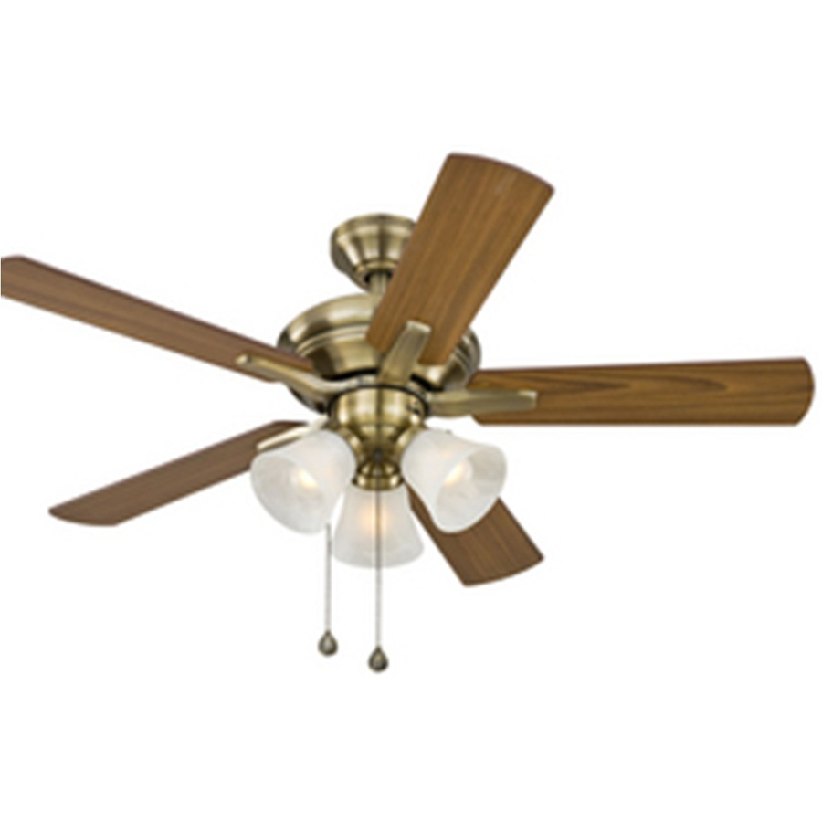 Shop Harbor Breeze 42 In Antique Brass Ceiling Fan With