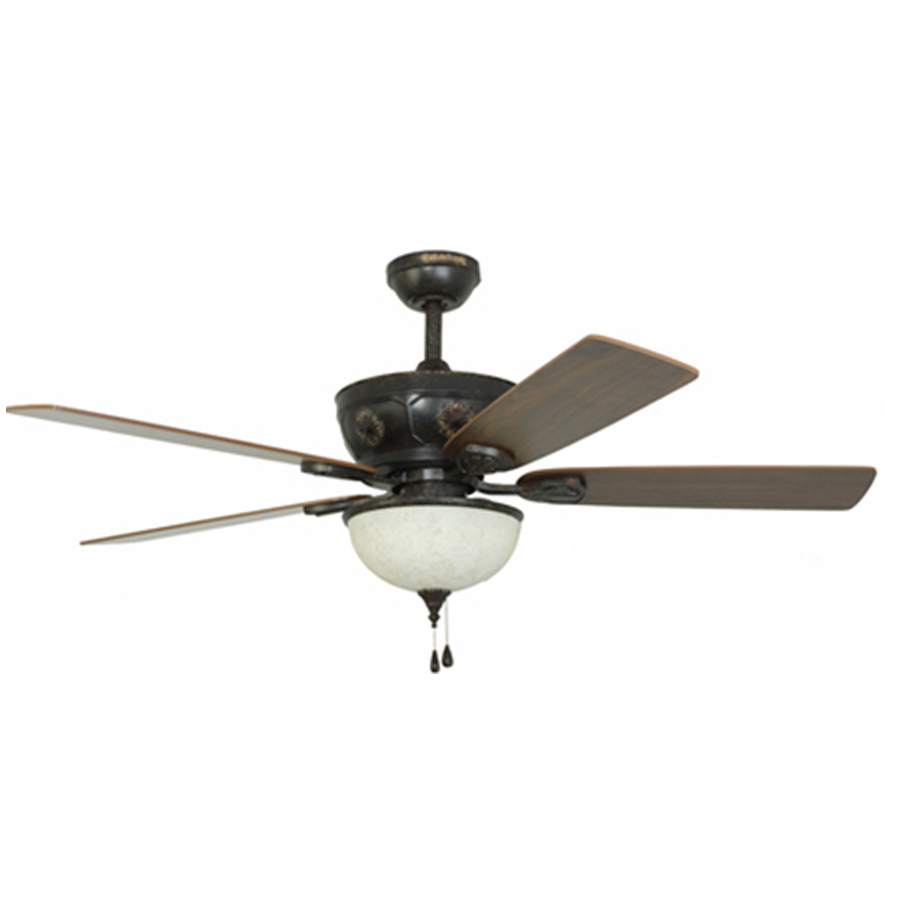 Shop Harbor Breeze Herndon 52 In Aged Bronze Ceiling Fan