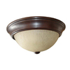Project Source 2-Pack 13-in W Bronze Ceiling Flush Mount