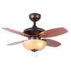 allen + roth Laralyn 32-in Bronze Indoor Downrod or Flush Mount Ceiling Fan with Light Kit