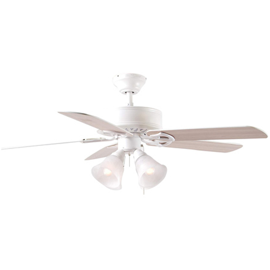 Shop Harbor Breeze 52 In Springfield White Ceiling Fan With Light Kit At Lowe
