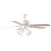 Harbor Breeze 52-in Springfield White Ceiling Fan with Light Kit