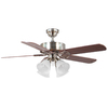 Harbor Breeze 52-in Springfield Brushed Nickel Ceiling Fan with Light Kit
