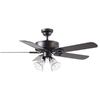 Harbor Breeze 52-in Springfield Matte Black Ceiling Fan with Light Kit