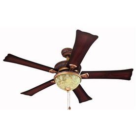 Harbor Breeze Fairfax 52-in Gold Downrod or Flush Mount Indoor Ceiling Fan with Light Kit