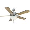 Harbor Breeze 52-in Crosswinds Brushed Nickel Ceiling Fan with Light Kit and Remote