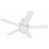 Harbor Breeze Crosswinds 52-in White Downrod or Flush Mount Ceiling Fan with Light Kit and Remote Control