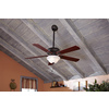 Harbor Breeze Crosswinds 52-in Oil-Rubbed Bronze Downrod or Flush Mount Indoor Ceiling Fan with Light Kit and Remote