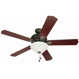 Harbor Breeze Crosswinds 52-in Oil Rubbed Bronze Downrod or Flush Mount Indoor Ceiling Fan with Light Kit and Remote