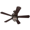 Harbor Breeze Merrimack 52-in Antique Bronze Downrod or Flush Mount Indoor/Outdoor Ceiling Fan with Light Kit and Remote