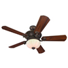 Harbor Breeze 52-in Wakefield Specialty Bronze Ceiling Fan with Light Kit and Remote