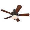 Harbor Breeze Platinum Wakefield 52-in Guilded Espresso Downrod Mount Indoor Ceiling Fan with Light Kit and Remote