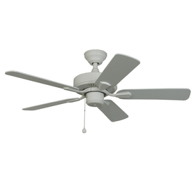 Harbor Breeze Classic 42-in White Downrod or Flush Mount Indoor/Outdoor Ceiling Fan
