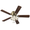 Harbor Breeze 52-in Centreville Antique Brass Ceiling Fan with Light Kit