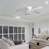 Harbor Breeze Centreville 52-in White Flush Mount Indoor Ceiling Fan with Light Kit
