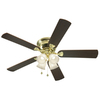 Harbor Breeze 52-in Centreville Polished Brass Ceiling Fan with Light Kit