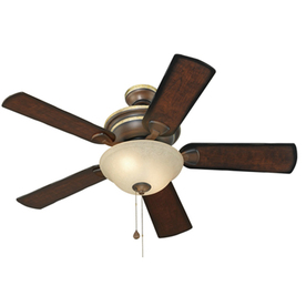 Harbor Breeze Keyport 44-in Walnut Downrod or Flush Mount Indoor Ceiling Fan with Light Kit