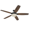 Harbor Breeze Kingsbury 70-in Oil-Rubbed Bronze Downrod Mount Indoor Ceiling Fan with Light Kit and Remote