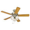 Harbor Breeze Lansing 42-in Brushed Nickel Ceiling Fan with Light Kit
