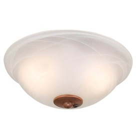 Harbor Breeze 2-Light Swirled Marble Ceiling Fan Light Kit with Bowl Light Kit Glass or Shade 40310