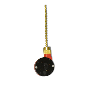 Harbor Breeze 1.85-in Black Plastic Pull Chain